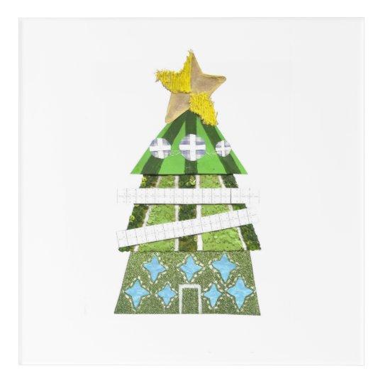 Christmas Tree Hotel Acrylic Wall Poster Acrylic Print