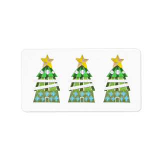 Christmas Tree Hotel Address Labels