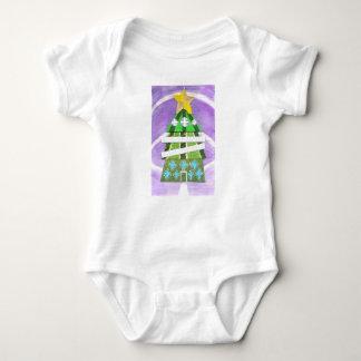 Christmas Tree Hotel Babygro Baby Bodysuit
