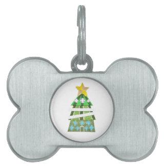 Christmas Tree Hotel Bone Pet Tag