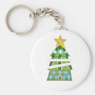 Christmas Tree Hotel Keyring Basic Round Button Key Ring