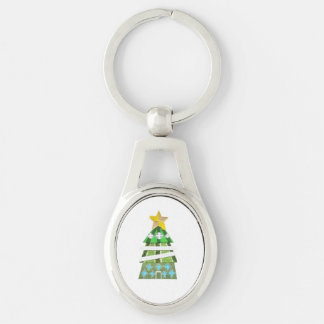 Christmas Tree Hotel Metal Keyring