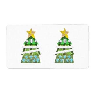 Christmas Tree Hotel Shipping Labels