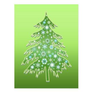 Christmas Tree Hugger Postcard