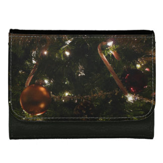 Christmas Tree III Holiday Candy Cane and Ornament Wallet For Women