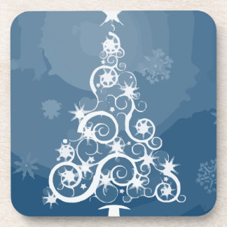 Christmas tree illustration coaster