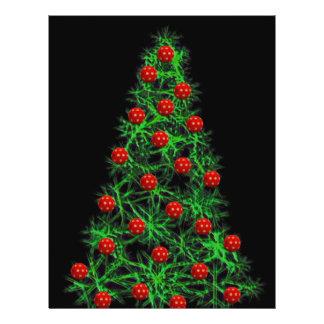 Christmas tree illustration flyer design