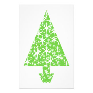 Christmas Tree in Green and White. Flyer