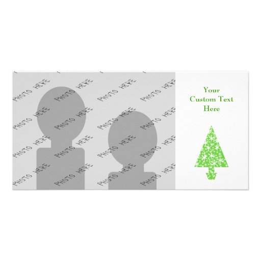 Christmas Tree in Green and White. Photo Greeting Card