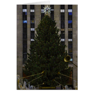 Christmas Tree in New York City Christmas Card