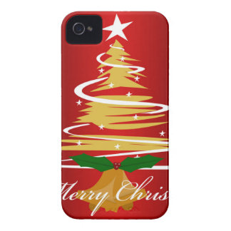 CHRISTMAS TREE IN RED AND GREEN iPhone 4 CASE