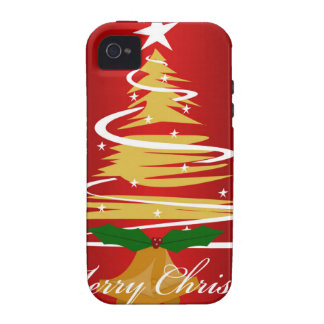 CHRISTMAS TREE IN RED AND GREEN iPhone 4/4S COVERS