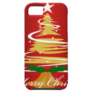 CHRISTMAS TREE IN RED AND GREEN iPhone 5/5S COVER