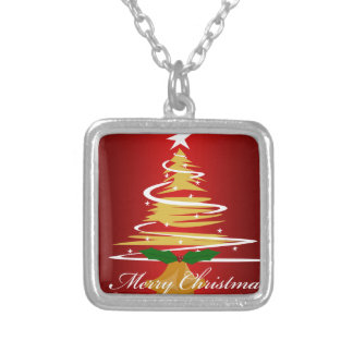 CHRISTMAS TREE IN RED AND GREEN CUSTOM NECKLACE