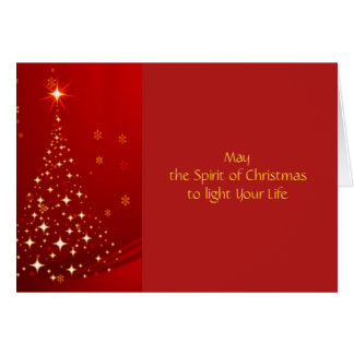 Christmas Tree Inside Photo Frame Greeting Card