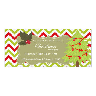 Christmas tree personalized announcements