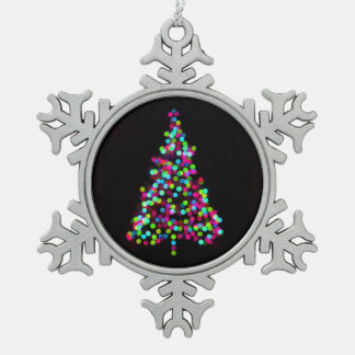 Christmas Tree Jewels Pewter Snowflake Decoration