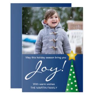 Christmas Tree Joy Holiday Photo Card