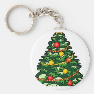 Christmas tree key chains