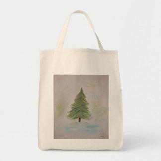Christmas Tree landscape image Bag