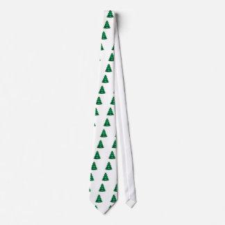 Christmas Tree Light Green White OL The MUSEUM Zaz Tie