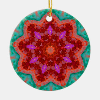 Christmas Tree Lights Fractal Christmas Ornament