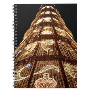 Christmas tree lights notebook