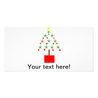 Christmas tree made of stars clipart personalized photo card