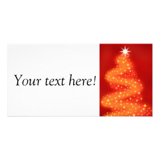 Christmas tree made of stars personalized photo card