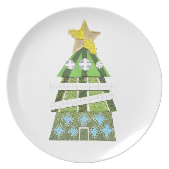 Christmas Tree Melamine Plate