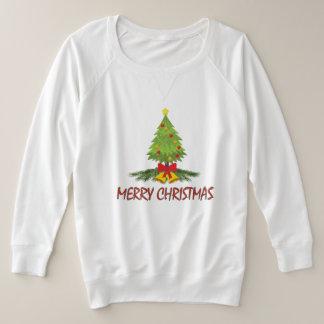 Christmas Tree Merry Christmas Plus Size Sweatshirt