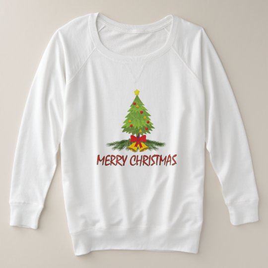 Christmas Tree Merry Christmas Plus Size Sweatshirt