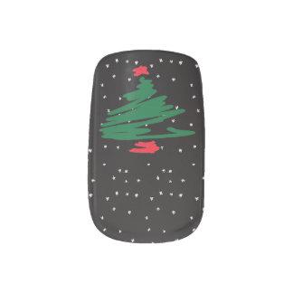 Christmas Tree Minx Nail Art