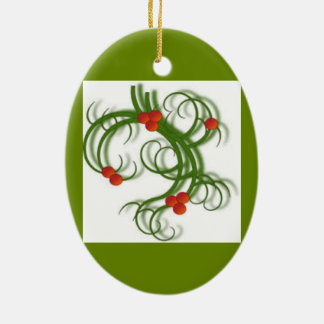 CHRISTMAS TREE MISTLETOE ORNAMENT