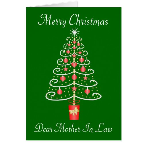 Christmas Tree Mother-In-Law Christmas Card