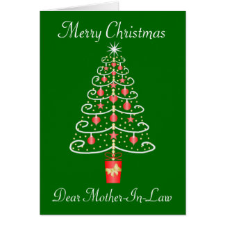 Christmas Tree Mother-In-Law Christmas Greeting Card