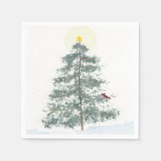 Christmas tree napkins disposable serviette