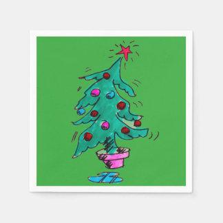 Christmas Tree Napkins Paper Serviettes