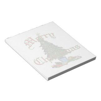 "Christmas Tree Notepad 5.5x6"""