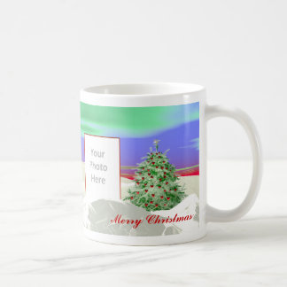 Christmas Tree of Hearts 2-Photo Frame Basic White Mug