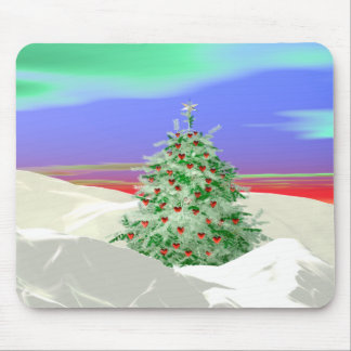 Christmas Tree of Hearts Mouse Pad
