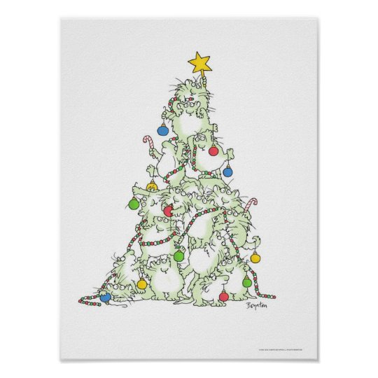 CHRISTMAS TREE OF KITTIES poster by Sandra Boynton