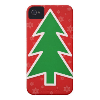 Christmas Tree on Red background Blackberry Cases