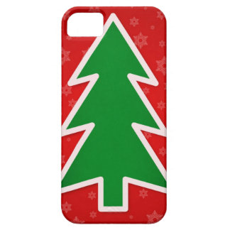 Christmas Tree on Red background iPhone 5 Case