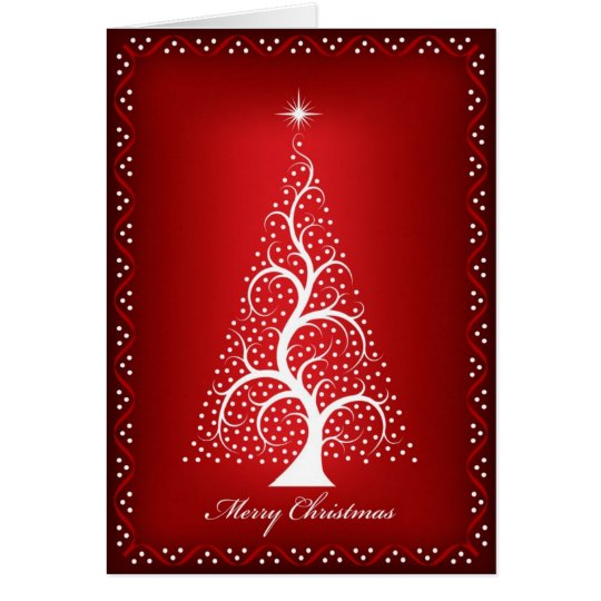 Christmas Tree on Red Card