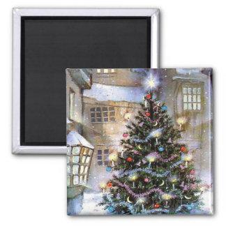Christmas tree on street magnet