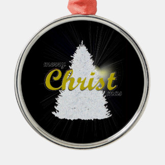 CHRISTmas tree ornament gold writing framed