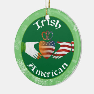 Christmas Tree Ornament Irish American Claddagh