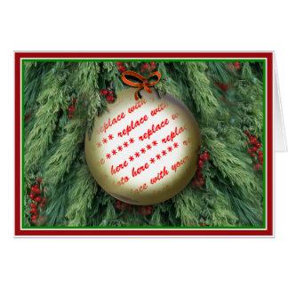 Christmas Tree Ornament Photo Frame Card