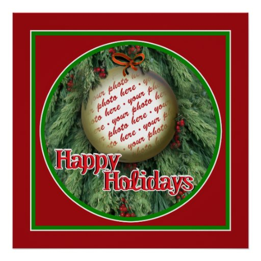 Christmas Tree Ornament Photo Frame Posters